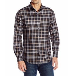 Perry Ellis - Heather Plaid-Pattern Shirt