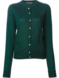 Dolce & Gabbana - Crystal Buttons Cardigan