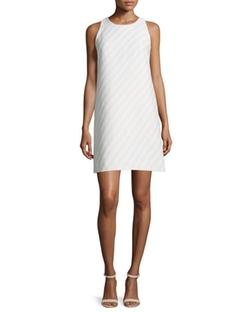 Milly - Striped Jacquard Shift Dress