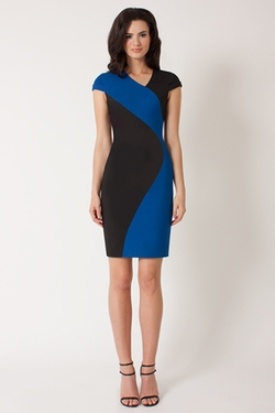 Black Halo - Colby Colorblocked Sheath Dress