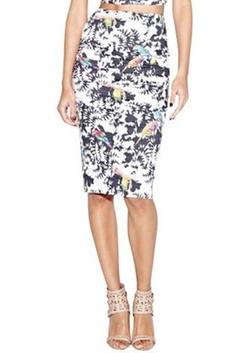 Nicole Miller - Bird-Print Pencil Skirt