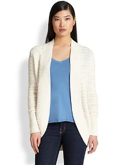 Saks Fifth Avenue Collection  - Tape Stitch Open Cardigan