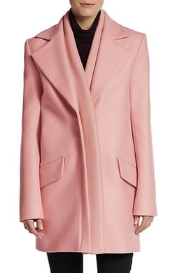 Thakoon  - Ribbed Knit-Trimmed Wool Coat