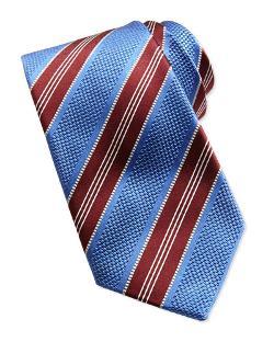 Ike Behar  - Textured Stripe Woven Tie