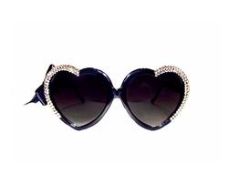 Marialia - Half-Heart Swarovski Sunglasses