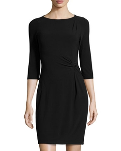 Marc New York by Andrew Marc - Gathered Quarter Sleeve Sheath Dress