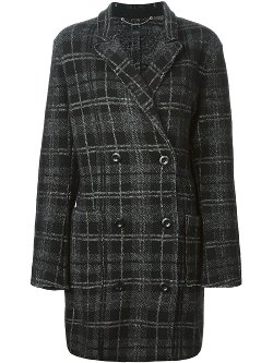 Diesel  - Double Breasted Plaid Coat