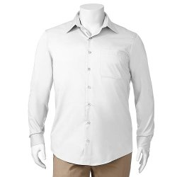 Van Heusen  - Sateen No-Iron Casual Button-Down Shirt