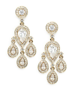 Adriana Orsini - Pavé Teardrop Chandelier Earrings