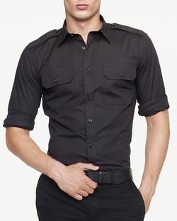 Ralph Lauren Black Label - Military Stretch Poplin Shirt