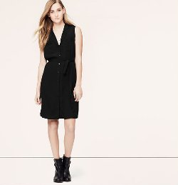Loft - Sleeveless Shirtdress