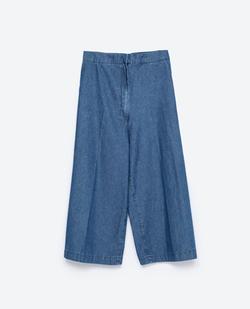 """Zara - """"Essentials"""" Denim Culottes Pants"""