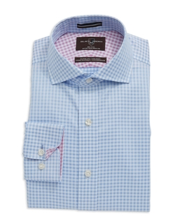 Black Brown 1826 - Gingham Check Cotton Dress Shirt