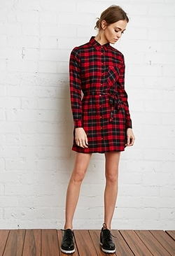 Forever 21 - Plaid Flannel Shirt Dress