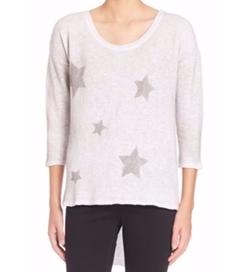 Feel The Piece  - Kona Cotton Star-Print Sweater
