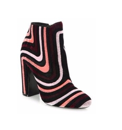 Salvatore Ferragamo - Feel Embroidered Velour Block-Heel Booties