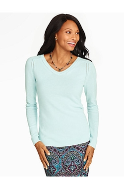 Talbots - Cashmere V-Neck Sweater
