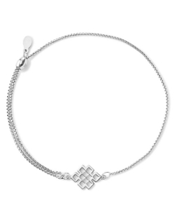 Alex and Ani  - Precious Metals Symbolic Endless Knot Pull Chain Bracelet