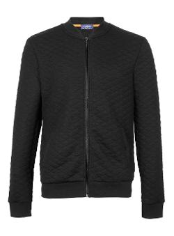 TOPMAN - Quilted Bomber Jacket