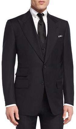 Tom Ford - Windsor Base Herringbone Three-Piece Suit