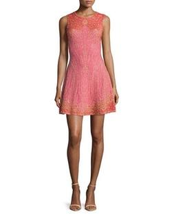 M Missoni - Embellished Fit-&-Flare Dress