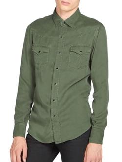 Saint Laurent  - Cotton Twill Western Shirt
