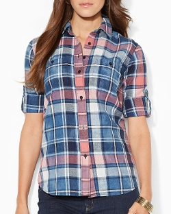 Lauren Ralph Lauren - Plaid Roll Sleeve Shirt