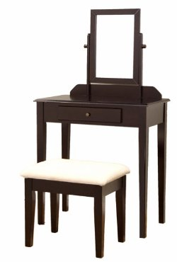Frenchi Furniture - Espresso Finish Vanity Set