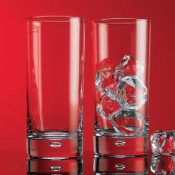 Home Essentials -  Red Series Bubble Highball Glass, Set of 4