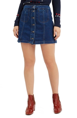 Topshop  - Button Front Denim Skirt