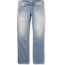 Ron Herman   - Straight-Leg Washed-Denim Jeans