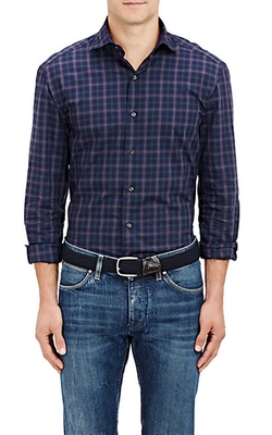 Barneys New York - Checked Dress Shirt