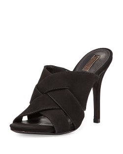 Schutz - Basketweave Open-Toe Sandal, Black