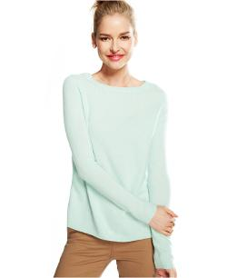 Charter Club - Silk-Panel Cashmere Sweater