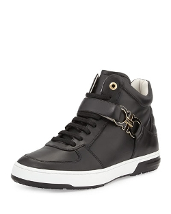 Salvatore Ferragamo - Nayon High-Top Sneakers