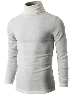 H2H  - Basic Knitted Turtleneck Sweaters