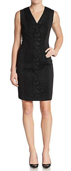 Tahari - Arvis Textured Panel Dress