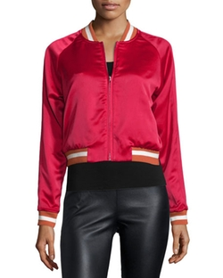 Elizabeth And James - Willa Reversible Embroidered Bomber Jacket