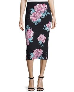 Elizabeth And James - Darci Floral-Print Midi Pencil Skirt