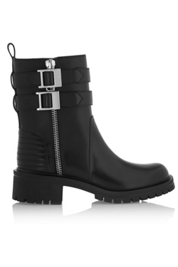 Givenchy - Buckled Leather Biker Boots