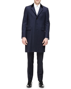 Burberry London - Single-Breasted Plaid Overcoat