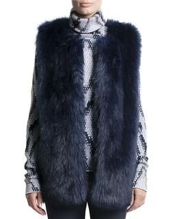 Pink Tartan - Faux Fur Vest