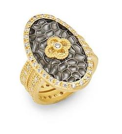 Freida Rothman - Clover Oval Shield Ring