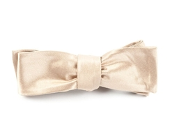 The Tie Bar - Solid Satin Slim Self-Tie Bow Tie