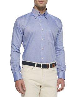 Peter Millar - Solid Oxford Dress Shirt