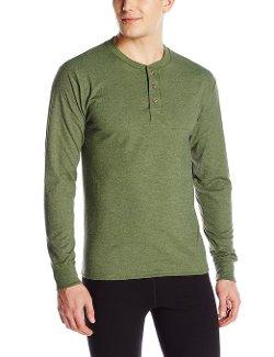 Hanes  - Beefy-T Long Sleeve Henley Shirt