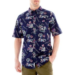 St. John's Bay - Short-Sleeve Printed Tropical Shirt