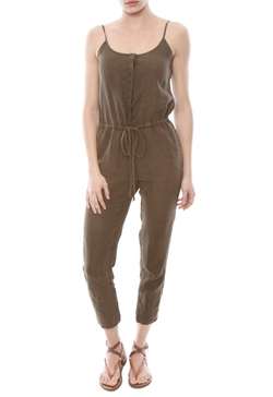 Enza Costa - Olive Drab Linen Strappy Jumpsuit