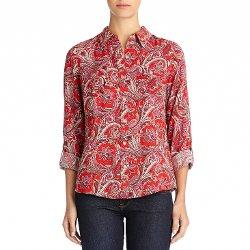 Jones New York  - Paisley Print Shirt