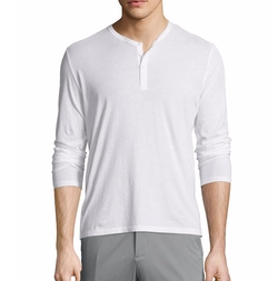ATM Anthony Thomas Melillo - Classic Long-Sleeve Henley Shirt